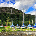 Sailboats At Glenridding In The Lake District by Louise Heusinkveld