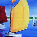 Sailboats by David Cotton