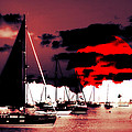 Sailboats In The Marina Surreal 2 by Aurelio Zucco