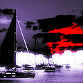 Sailboats In The Marina Surreal 3 by Aurelio Zucco