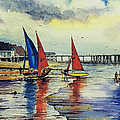 Sailing At Penarth by Andrew Read