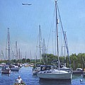 Sailing Boats At Christchurch Harbour by Martin Davey