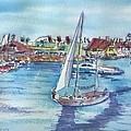 Sailing By Shoreline Village by Debbie Lewis