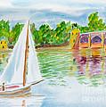 Sailing By The Bridge by Walt Brodis