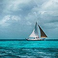 Sailing In Blue Belize by Kristina Deane