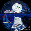 Sailing In The Moonlight by Walt Brodis