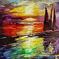 Sailing In The Sunset by Dragica  Micki Fortuna