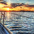 Sailing Into The Sunset by Linda Arnado