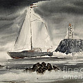 Sailing On A Grey Day by Anthony Coulson