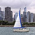 Sailing On Lake Michigan by Philip Pound