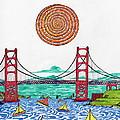 Sailing On San Francisco Bay by Michael Friend