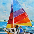 Sailing On The Choptank by Lesley Giles