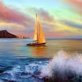 Sailing Past Waikiki by Dale Jackson
