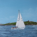 Sailing Through Dalkey Sound by Tony Gunning