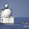Sailors In A Rigid-hull Inflatable by Stocktrek Images
