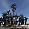 Sailors Participate In A Fight Deck by Stocktrek Images
