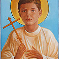 Saint Alexei Oil Icon On Wood. Tsarevich  Passion-bearer by George Alexander