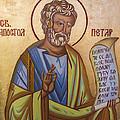 Saint Apostle Peter by Aleksandar Tesanovic