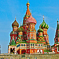 Saint Basil Cathedral In Red Square In Moscow- Russia by Ruth Hager