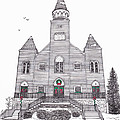 Saint Bridget's Church At Christmas by Michelle Welles