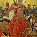 Saint Catherine Of Alexandria Icon by Elzbieta Fazel