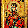 Saint Catherine Of Alexandria Icon by Ryszard Sleczka