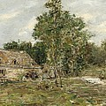 Saint-cenery The Mill by Eugene Louis Boudin