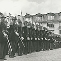 Saint Cyr Cadets At Ecole Polmtechnique by Retro Images Archive