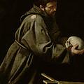Saint Francis In Meditation by Michelangelo Merisi da Caravaggio