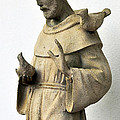 Saint Francis Of Assisi Statue With Birds by Sally Rockefeller
