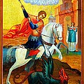 Saint George by Munir Alawi