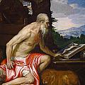 Saint Jerome In The Wilderness by Paolo Veronese