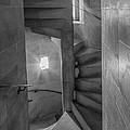 Saint John The Divine Spiral Stairs Bw by Jerry Fornarotto