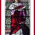 Saint John The Evangelist Stained Glass Window by Rose Santuci-Sofranko