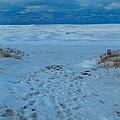 Saint Joseph Michigan Beach In Winter by Dan Sproul