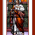 Saint Joseph  Stained Glass Window by Rose Santuci-Sofranko