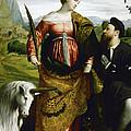 Saint Justina With The Unicorn by Moretto da Brescia