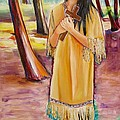 Saint Kateri Tekakwitha Version One by Sheila Diemert
