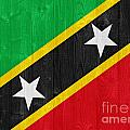 Saint Kitts And Nevis Flag by Luis Alvarenga