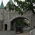 Saint Louis Gate In Ramparts Of Quebec City by Christiane Schulze Art And Photography