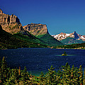 Saint Mary Lake And Wild Goose Island by Ed  Riche