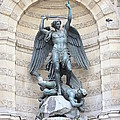 Saint Michael The Archangel In Paris by Carol Groenen