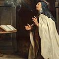 Saint Teresa Of Avila's Vision Of The Holy Spirit by Peter Paul Rubens