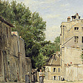 Saint-vincent Street, Montmartre Oil On Canvas by Stanislas Victor Edouard Lepine