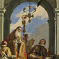 Saints Maximus And Oswald by Giovanni Battista Tiepolo