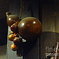 Sake Gourd Bottles From Japan On Corner by Feile Case