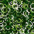 Salad Geometric Circle Segment Pattern by Frank Ramspott
