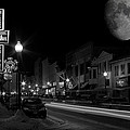 Salem Ohio Winter Moon by David Dufresne