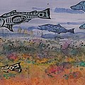 Salmon In The Stream by Carolyn Doe