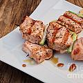 Salmon Teriyaki Skewers by Oren Shalev